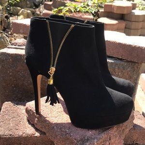 BEBE Black Heel Booties